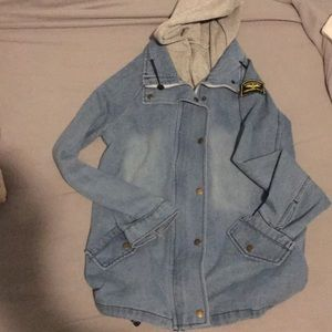 I'm selling a jean jacket with hood
